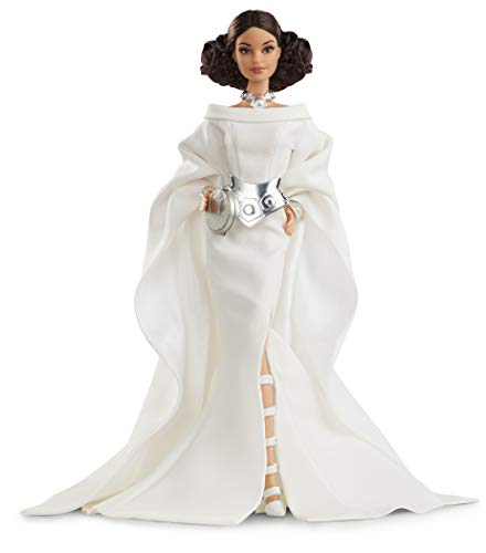 Barbie- Signature Princesse Leia Poupée de Collection Star Wars, Jouet Collector, GHT78, Multicolore