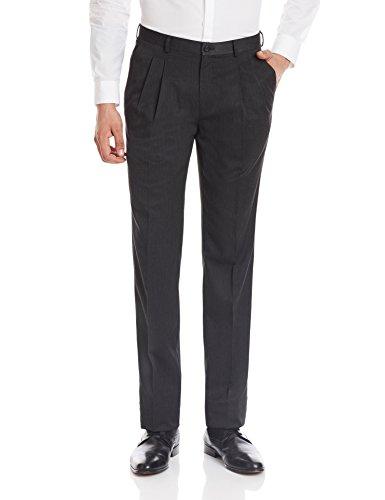Blackberrys Men's Formal Trousers (8907196371735_BP-T1Z-TREMOR_32W x 36L_Charcoal)