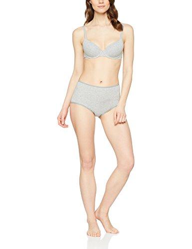 Iris & Lilly Damen Baumwoll-BH im 2er-Pack Mehrfarbig (Grey Marl/Nude)