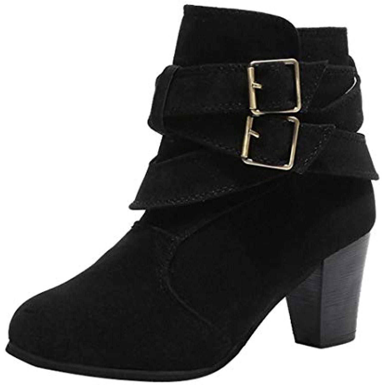 b21c8730855d2 Xinxinyu Bottes Chaussures Femme ❤ ❤ Femme Mode Bottines en Faux Suède  Bretelles Boucle. «