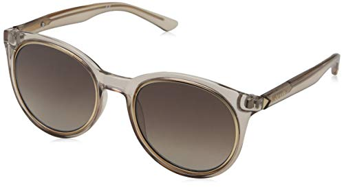 Guess Damen GU 7466 Sonnenbrille, Shiny Beige/Gradient Brown, 53