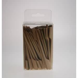 12cm Paddle Bamboo Wooden Skewers x 100