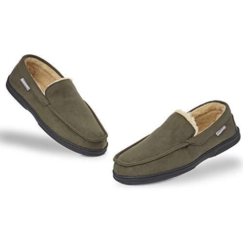 Dunlop Zapatillas Casa Hombre | Pantuflas Estilo Mocasines Cerradas | Zapatillas de Casa Invierno Calientes...
