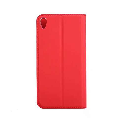 EKINHUI Case Cover Ultra Slim Leichtgewicht PU Ledertasche mit Clear TPU Back Cover & Card Slot & Kickstand & Magnetic Closure für SONY Xperia XA1 ( Color : Red ) Red