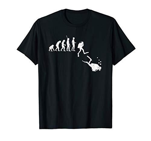 Evolution Taucher Menschen Entwicklung Tauchen Unterwasser T-Shirt