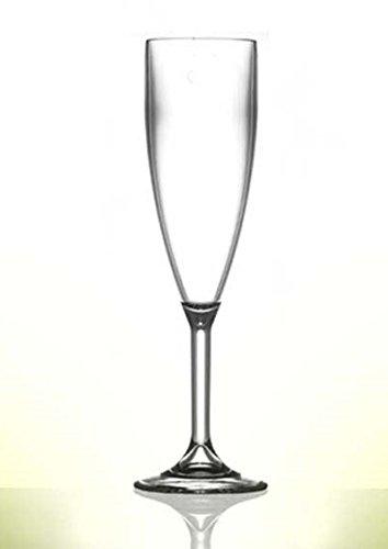Verres à champagne en polycarbonate, Lot de 12 en plastique de qualité | Traiteur Verrerie – Réutilisez des Centaines de fois | pratiquement incassable – rigide en polycarbonate
