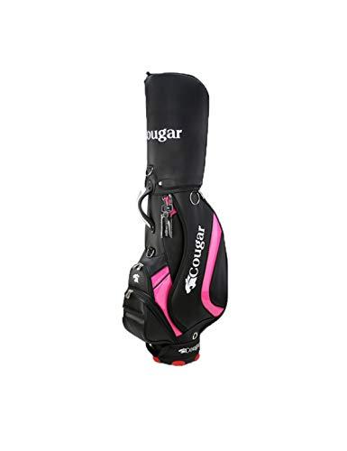 WYSTAO Golf Bag Tubes Tragbar Wasserdicht und Tragbar Sende EIN Geschenk an My Father Ladies Herren Standard Golf Bag Golf Bag Tubes for den Reisewettbewerb, Pink Black Rain Cover, Golf Bag Zubehör -