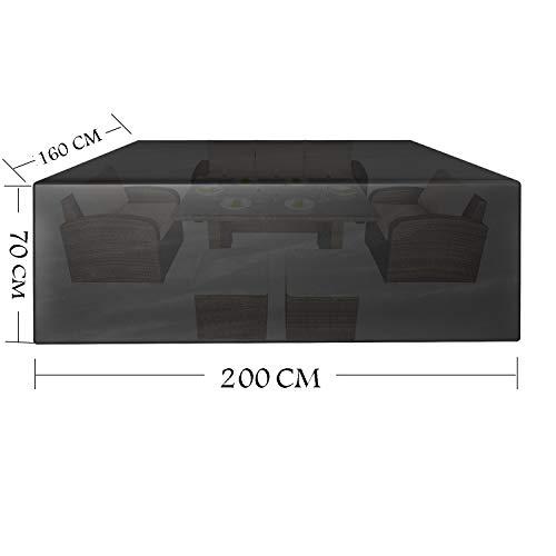 Copertura Tavolo Da Giardino.Copertura Della Mobilia Da Giardino 200 X 160 X 70 Cm Greeneur