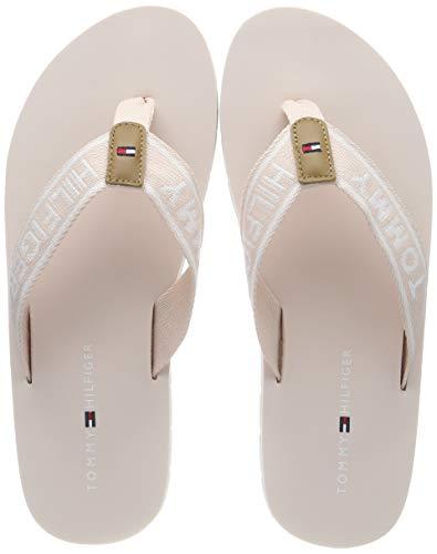 Tommy Hilfiger Sporty Flat Beach Sandal, Chanclas para Mujer, Rosa (Silver Peony 658), 41 EU