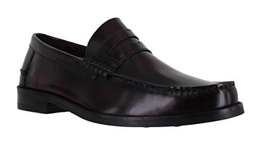 jones-portobello-mens-slip-on-leather-penny-loafers-formal-shoes-uk-9-burgundy