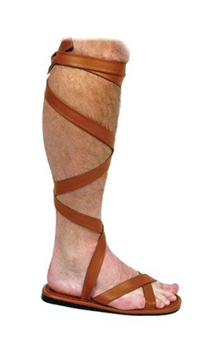Römische Sandalen braun L (Römische Braun Sandalen Kostüm)
