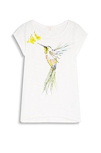 ESPRIT Damen T-Shirt 047ee1k069 Mehrfarbig (Off White 110)
