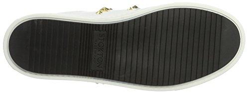 Stokton Sneaker, Sneakers Basses Femme Blanc (Bianco/oro)