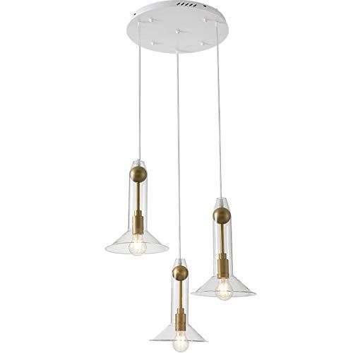 Linear-glas-anhänger (Küchenleuchter Linear Island Glas Anhänger Leuchte Vintage,3discs)