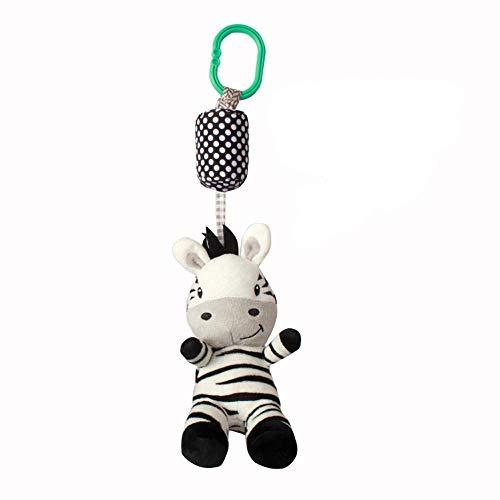 Bobopai Plush Toys Developmental Toy Bed Infant Kids Soft Sound Children Educational Toys Baby Carriage Intelligence Development Bauble Hanging Activity for Pram Pushchair Stroller Plaything(B) -