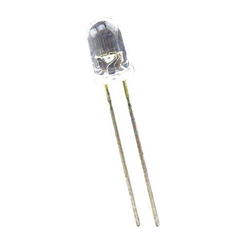 TOOGOO(R) 100 Stueck 5mm Superhelle weisse runde LED 20000 mcd Mcd 5mm Led
