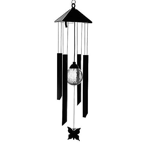 fonctionne à l'énergie solaire changeant de couleur LED Carillon, Anzome spirale Spinner Carillon Portable extérieur décoratifs romantique Windbell lumière pour patio, terrasse, cour, jardin, maison, allée