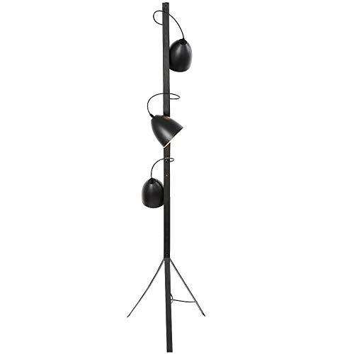 CYLAMP Stehlampe Stativ, Modern 3 Kopf Standlampe Schwarz für Schlafzimmer, Wohnzimmer Stimmungslicht, Wirtschaftliche Stehleuchte mit Langer Lebensdauer