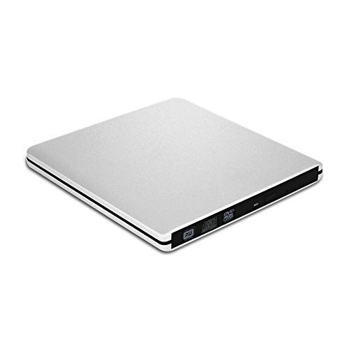VersionTech Grabadora Lector CD/DVD USB 3.0 Ultra Slim Portátil Unidad Externa Burner Lector Óptico CD + DVD +/-RW/-RW SuperDrive para para MacBook, MacBook Air, MacBook Pro, iMac, Windows y Mac OSXetc