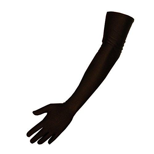 shop-dich-chic lange Satinhandschuhe in schwarz, rot oder weiss ca.53cm (Onesize (S-M), (Handschuhe Lang)