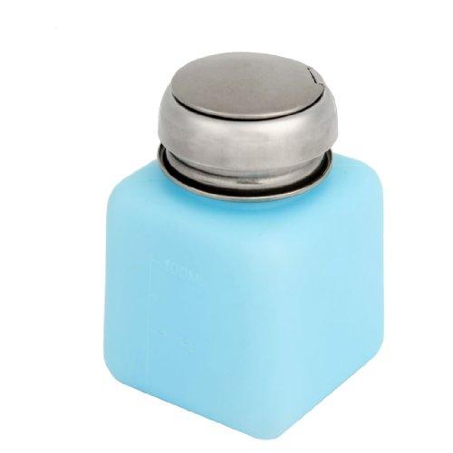 sourcing map Labor Metallischen Kappe Flüssigkeitsbehälter Flasche 100ml Alkohol Flachmann Blau DE de