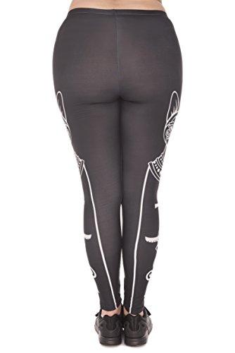 Plus Size Damen Leggings   Oversize L - XXL 44 46 48 Leggins in großer Größe mit verschiedenen Mustern   Sport-Hose Freizeit-Hose Yoga-Hose Übergröße Eyptian Cat