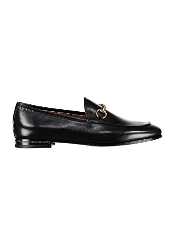 Gucci-Womens-404069BLM001000-Black-Leather-Loafers