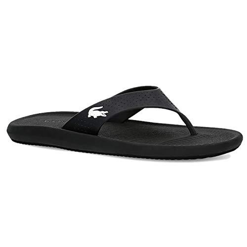 Lacoste Donna Croco Sandal 219 1 Cfa Punta Aperta Spiaggia Sandali - Nero/Bianco - 38