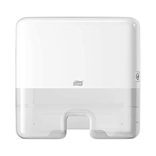 Tork Xpress Mini Spender für Multifold Papierhandtücher 552100, Elevation Design - Kompakter H2 Handtuchspender für Falthandtücher zur Einzeltuchentnahme, schlankes Design, weiß