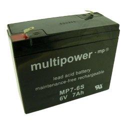 Multipower MP7-6S, WP7-6S batteria 6V 7Ah piombo PB
