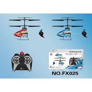 Red 4ch Infrared Radio Rc Control Helicopter Fx025
