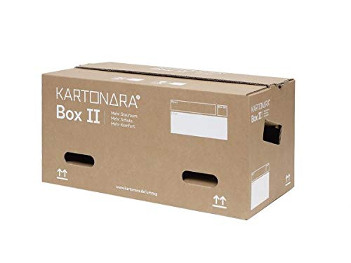 15 Stück Umzugskartons groß   KARTONARA Box Large   Bücherkartons stabil 47Liter