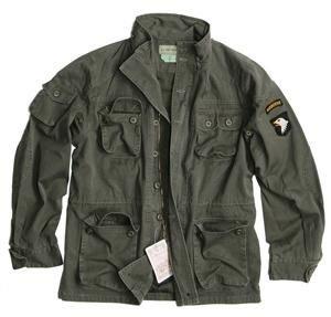 Vintage Airborne Fieldjacket Feldjacke oliv washed S - XXL