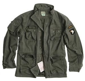 Vintage Airborne Fieldjacket Feldjacke oliv washed S - XXL XL