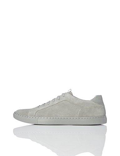 find. Herren Low-Top Suede Sneaker, Grau (Pale Grey), 43 EU
