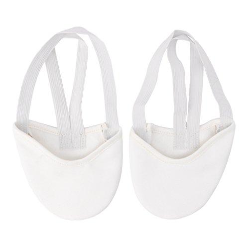 Keahup Kofun Paar Tanzschuhe Halbledersohle Ballett Pointe Tanzschuhe Rhythmische Gymnastik Hausschuhe - M - weiß -