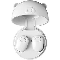 PNCS Ecouteur sans Fil TWS V5.0 Sports Invisibles sans Fil en Cours d'exécution pour Les Cadeaux de Remise en Forme en Plein air,White