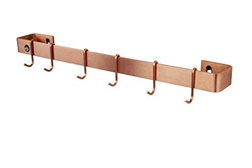 Enclume Wand Rack Utensil Bar mit 6Haken, Kupfer gebürstet, 76,2cm Utensil Bar-wand Rack