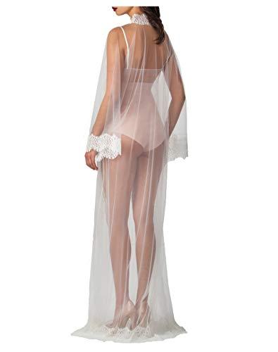 Plus Size Schiere Robe (ShinGown Damen Bademäntel Lange Braut Robe Spritze Sexy Nachthemd Leicht Schlafmantel für Sommer)
