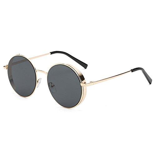 Occhiali da sole da donna uomo polarizzati -beautyjourney occhiali da sole love heart donna rotondi vintage sunglasses cat eye-donne uomo moda occhiali da sole classici del marchio di struttura metall (b)