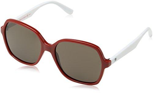 Tommy Hilfiger Unisex-Erwachsene TH 1490/S Sonnenbrille, Rot, 57