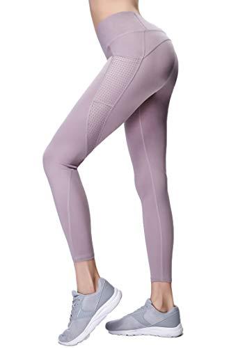 Gmardar Mallas para Mujer, Pantalones de Yoga Largos de Talle Alto Elásticos y Transpirables, Leggins Mujer Deportivos para Running Fitness Pilates Entrenamiento Ciclismo