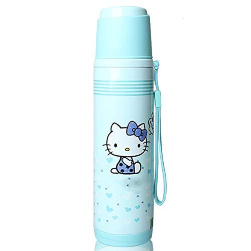 Kinder Becher Mädchen Tassen Cartoon Niedliche Schüler Becher mit Deckel Wasserflasche ()