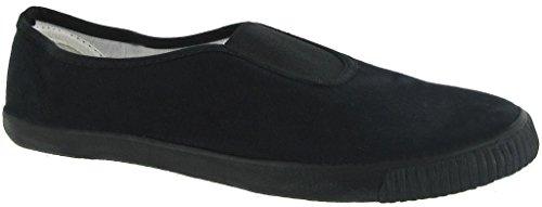 Unisex-Slipper Schule Sportschuhe, Schwarz und Weiß (Style#7231) Schwarz