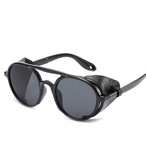 FIRM-CASE Männer Frauen Steampunk Schutzbrille-Sonnenbrille Retro Schatten Vintage-Brillen, 3