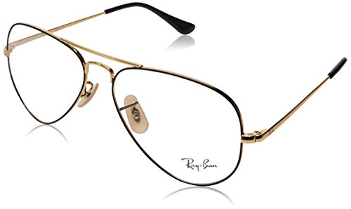 Ray-Ban Unisex-Erwachsene 0RX 6489 2946 55 Brillengestelle, Gold On Topo Black
