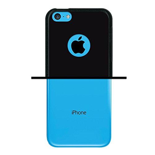 iPhone 5C Hülle, WoowCase Handyhülle Silikon für [ iPhone 5C ] Fußball, der den Wand bricht Handytasche Handy Cover Case Schutzhülle Flexible TPU - Schwarz Housse Gel iPhone 5C Schwarze D0054