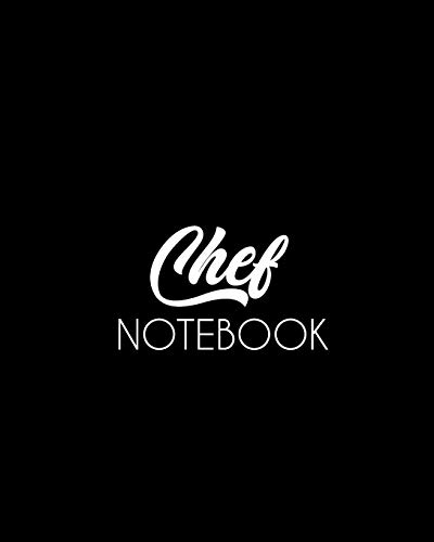 Chef Notebook: Make Your Own Cookbook - My Best Recipes And Blank Recipe Book Journal For Personalized Recipes - Blank Recipe Journal And Organizer For Recipes, 100 pages ,size (8 x 10 in) Kate Spade 10 Zoll