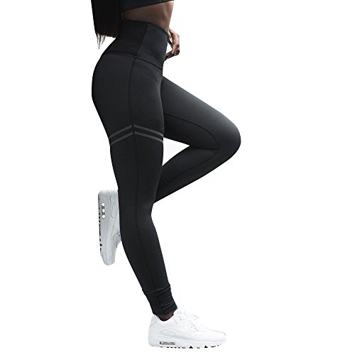 Homebaby Leggings Sportivi a Alta Vita Donna - Tinta Unita Leggings Push Up Modellante Fitness Spandex Pantaloni da Yoga Morbido Ragazza Opaco Palestra Leggings Eleganti