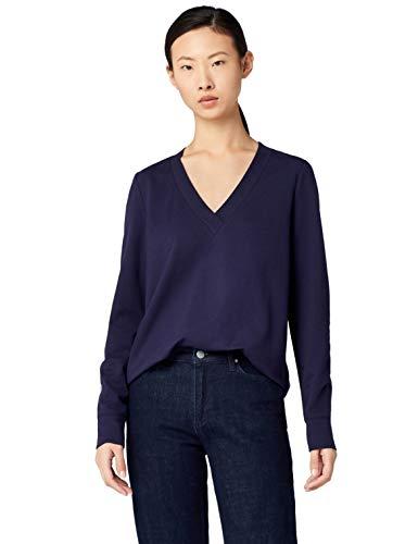 MERAKI Emily V-Neck Sweatshirt Blau Navy, Medium